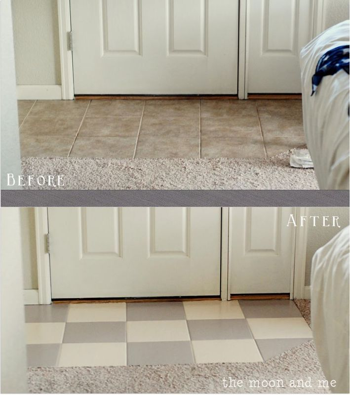 Painting A Ceramic Tile Floor Chalk Paint Diy Diy Flooring And