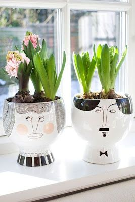 Wonderful Flower Pots With Faces