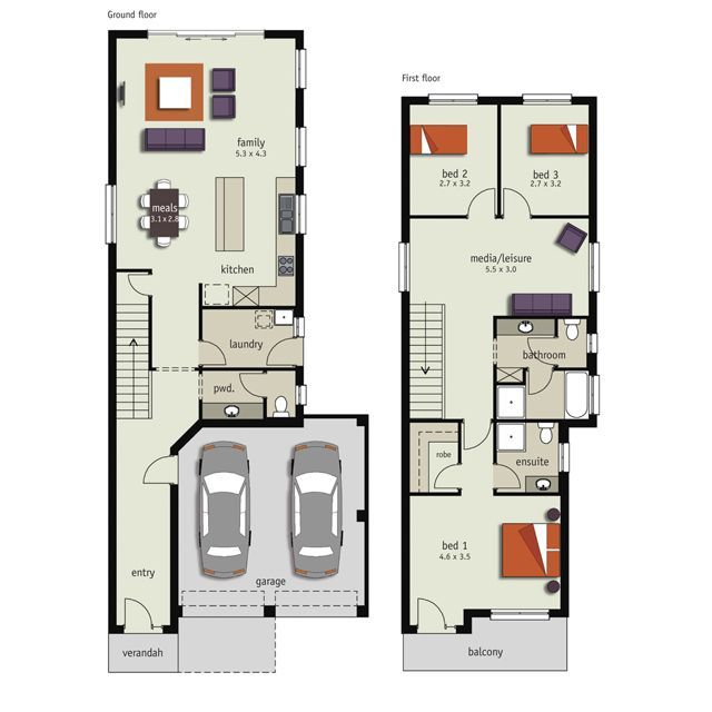 Pin By Melissa Prunty On Narrow Block House Plans