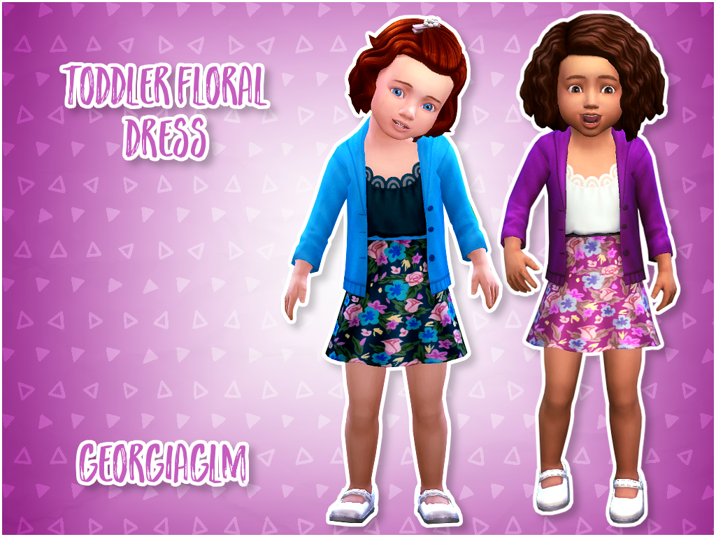 ⏩ Toddler Floral Dress ⏪ ⏩ I converted these cute dresses from the romantic garden pack BUT it's basegame compatible! ⏩ There are 9 colours included and all textures and mesh are by EA. ⏩ Download ⏪ ⏩...