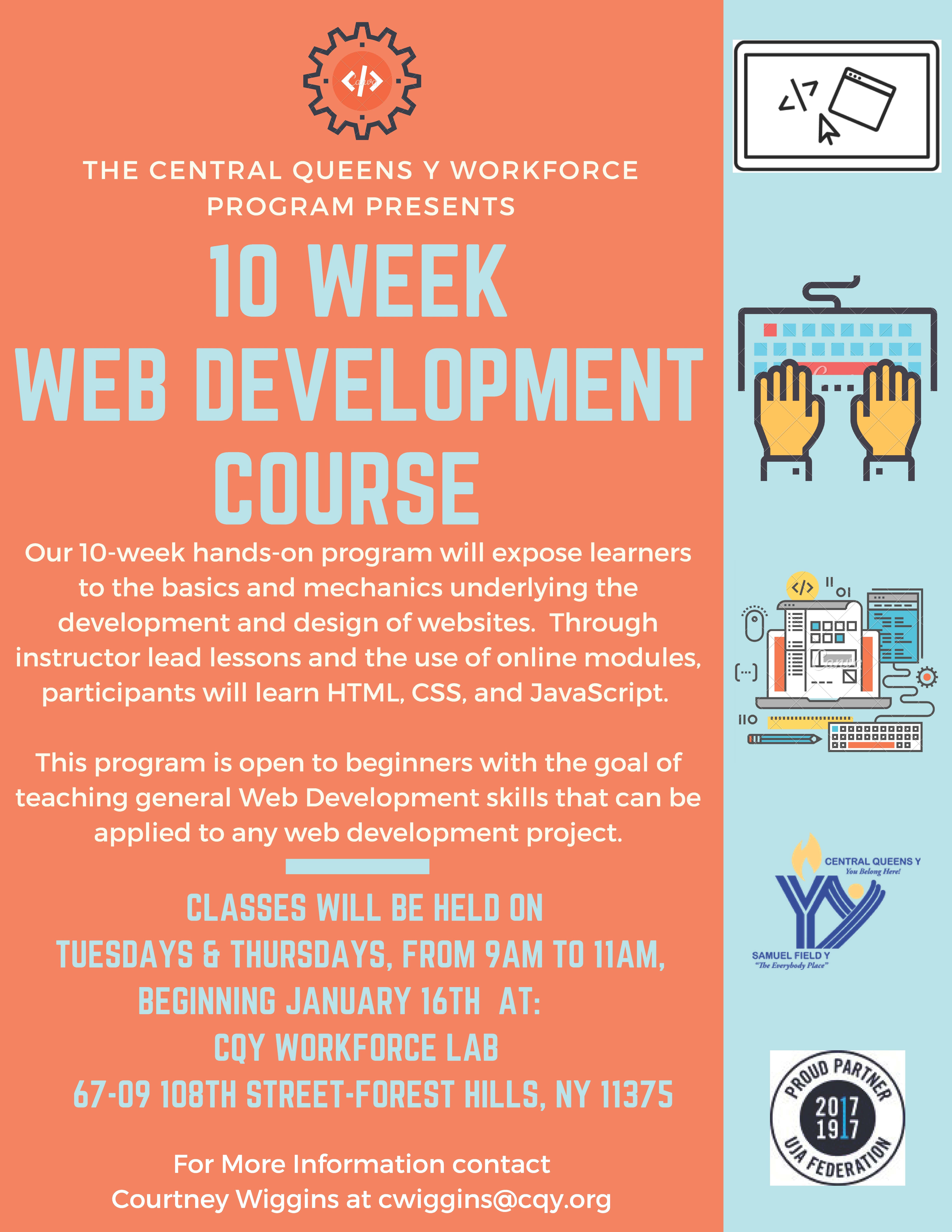 Free Coding Course At Central Queens Y Qns Com Free Coding Courses Coding Courses Web Development Course