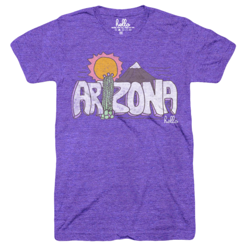 Hello Arizona (Adult & Kids) Orchid Tri-Blend