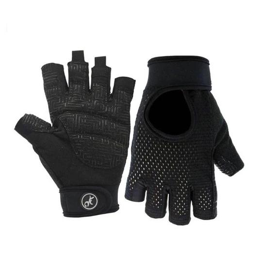 Raven Black AllAround Yoga Workout Gloves for Perspiring