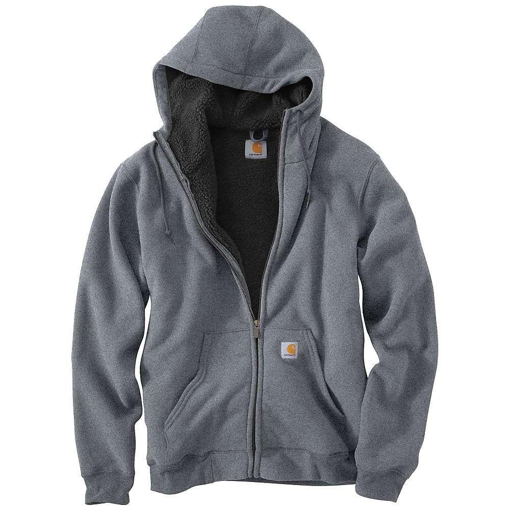 Carhartt Men S Brushed Fleece Sherpa Lined Sweatshirt Fleece Hooded Sweatshirt Carhartt Workwear Outdoor Apparel [ 1000 x 1000 Pixel ]