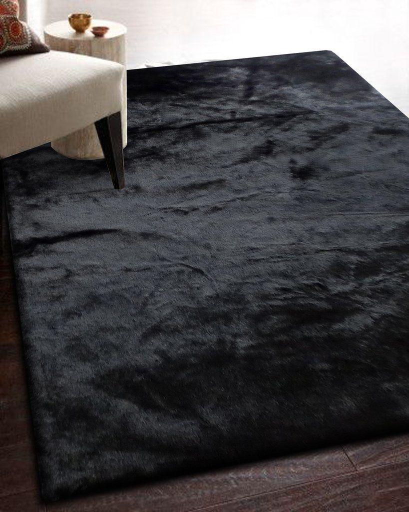 Ikea Black Fur Rug Black Rug Living Room Black Rug Bedroom Black Carpet