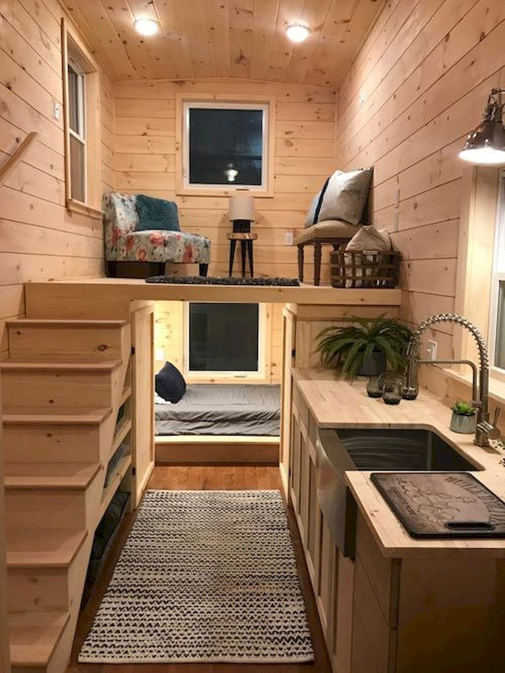 20 Relaxing Tiny House Makeovers Design Ideas With Farmhouse Style Tiny House Interior Design Tiny House Plans Tiny House Living