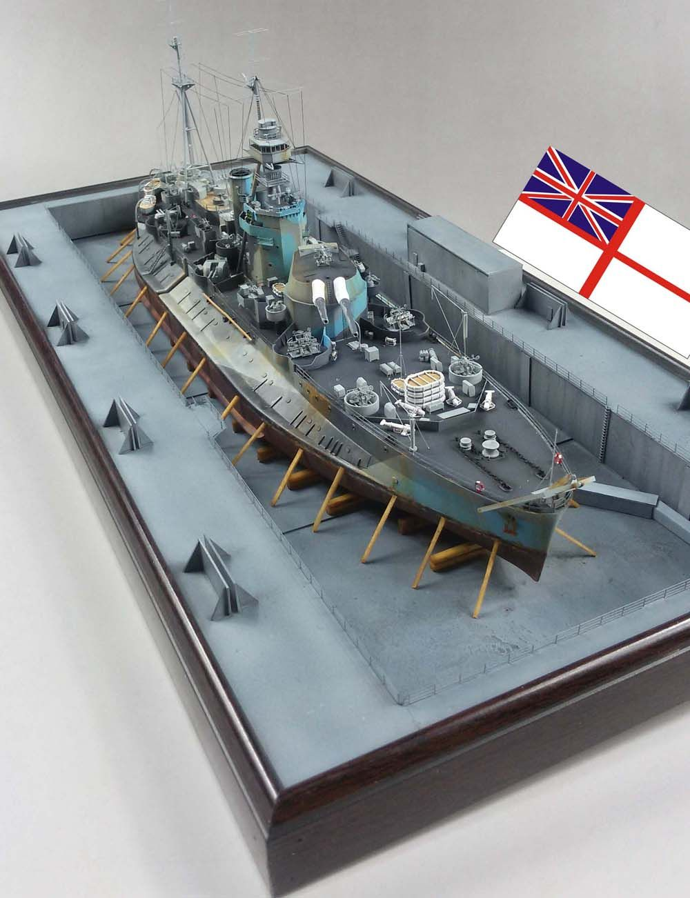 Aircraft carrier models large scale - 1 350 Hms Roberts Monitor Trumpeter Model Shipsbritish Armyscale