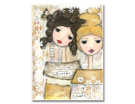 Best Friends Inspiring Brave Girl Painting Soul Sisters
