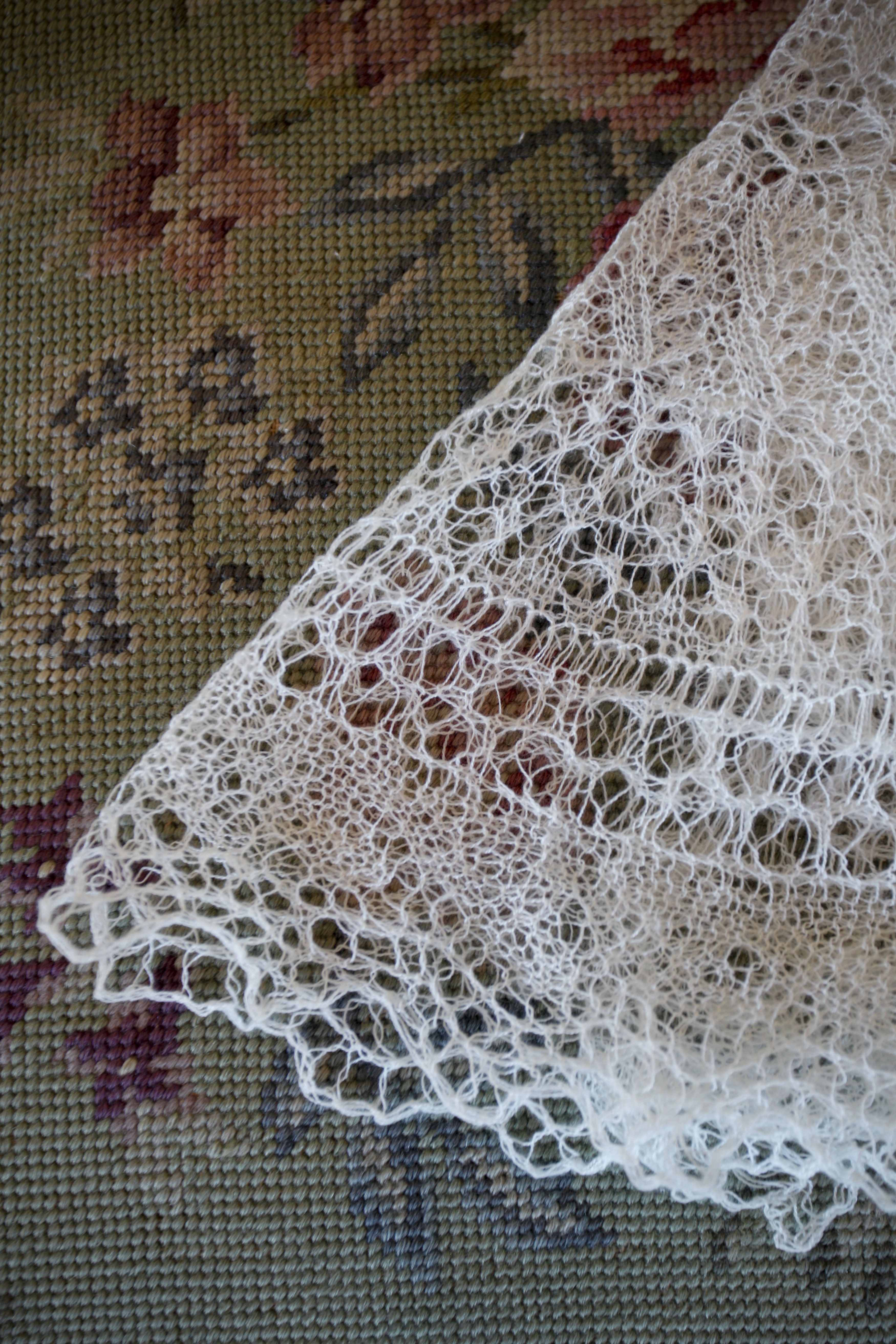 I knit my wedding veil out of a cashmere/silk blend in cobweb weight ...
