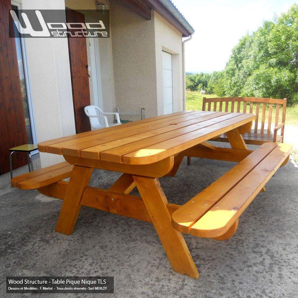 Table pique nique TLS220 Wood Structure Table picnic Solide ...