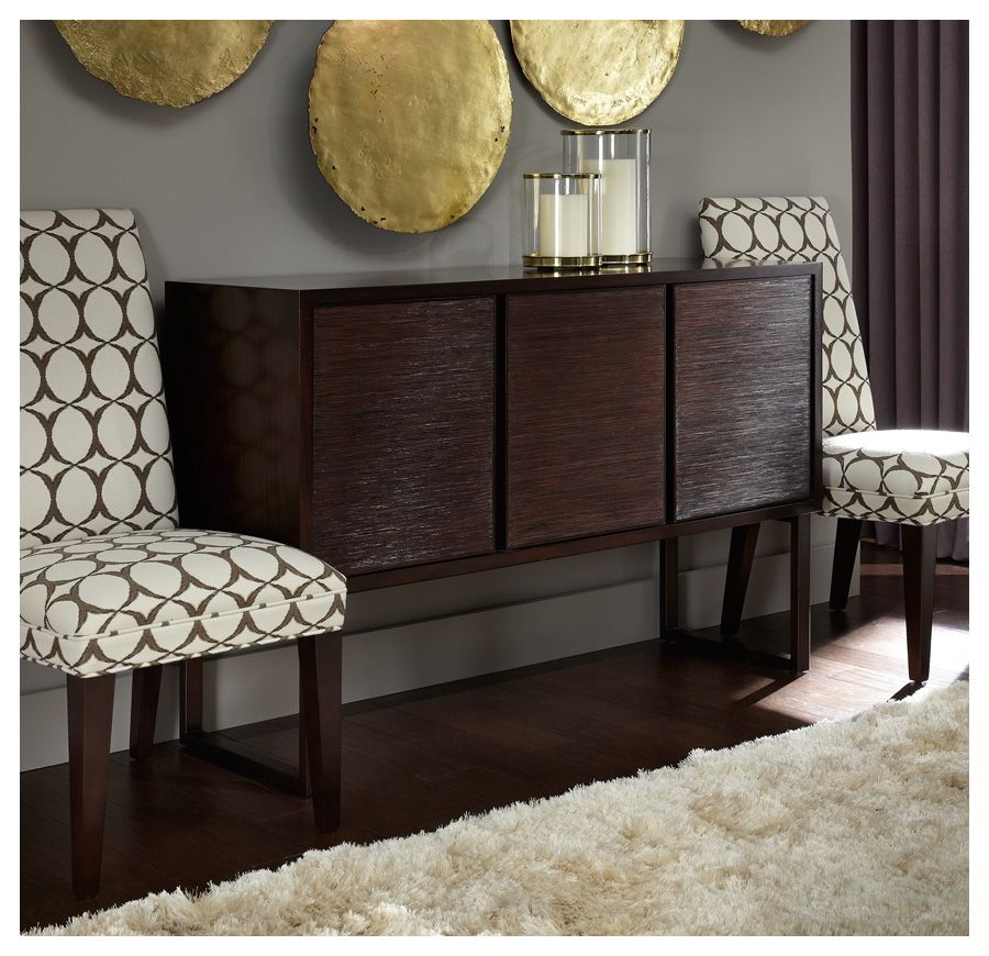 Our expansive Kimora buffet in wood with a metal base has