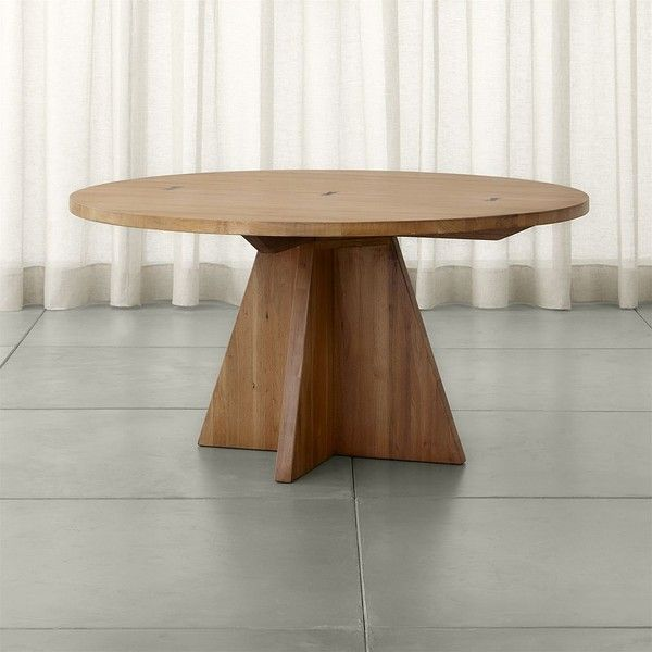 Crate Barrel Monarch 60 Solid Walnut Round Dining Table 2 299