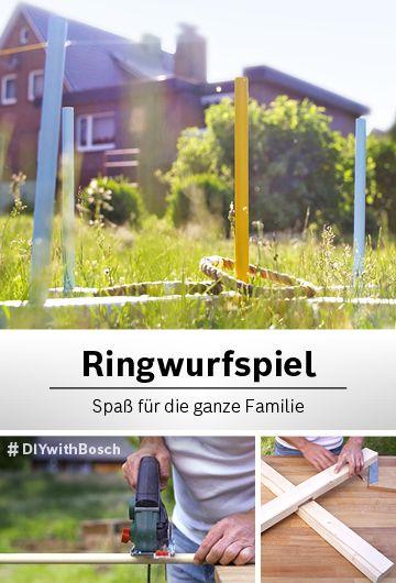 Genau zielen: Das DIY-Ringwurfspiel für draußen   Bosch DIY