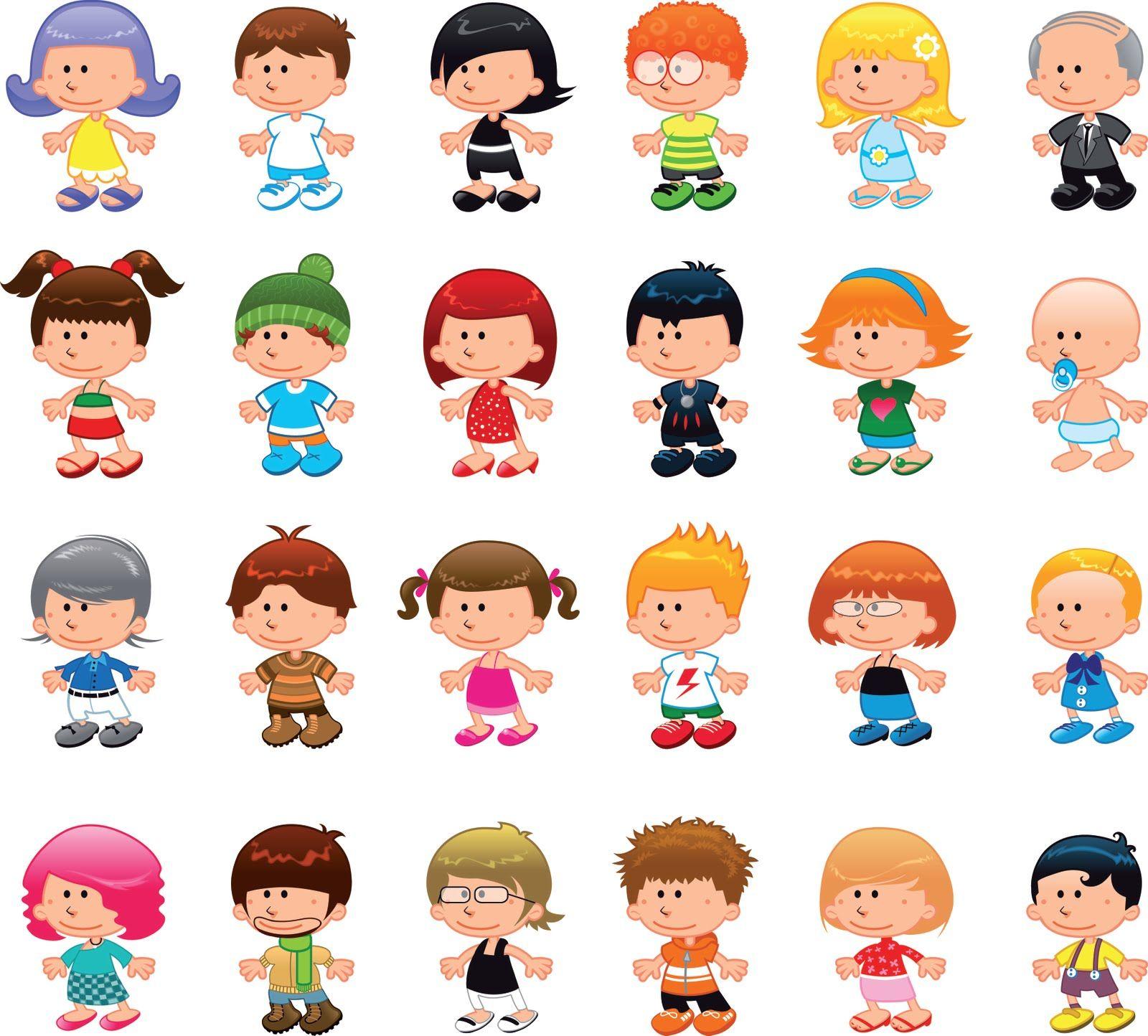 Niños Vector Buscar Con Google Caricaturas De Niños Niños Graduados Animados Clases De Dibujo Para Niños