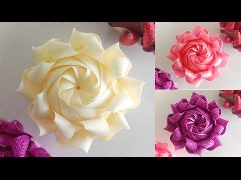 สอนพับเหรียญโปรยทานอย่างง่าย ลายดอกคาร์เนชั่นขนาดใหญ่ ใส่เหรียญทีหลังได้ .. Carnation Ribbon Art