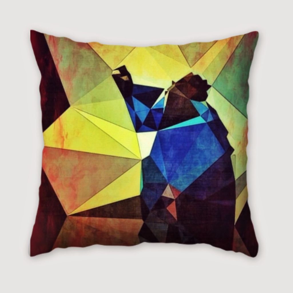 Notorious Cubism pillow. Available exclusively from http://twenty20.com/gravyworkshop