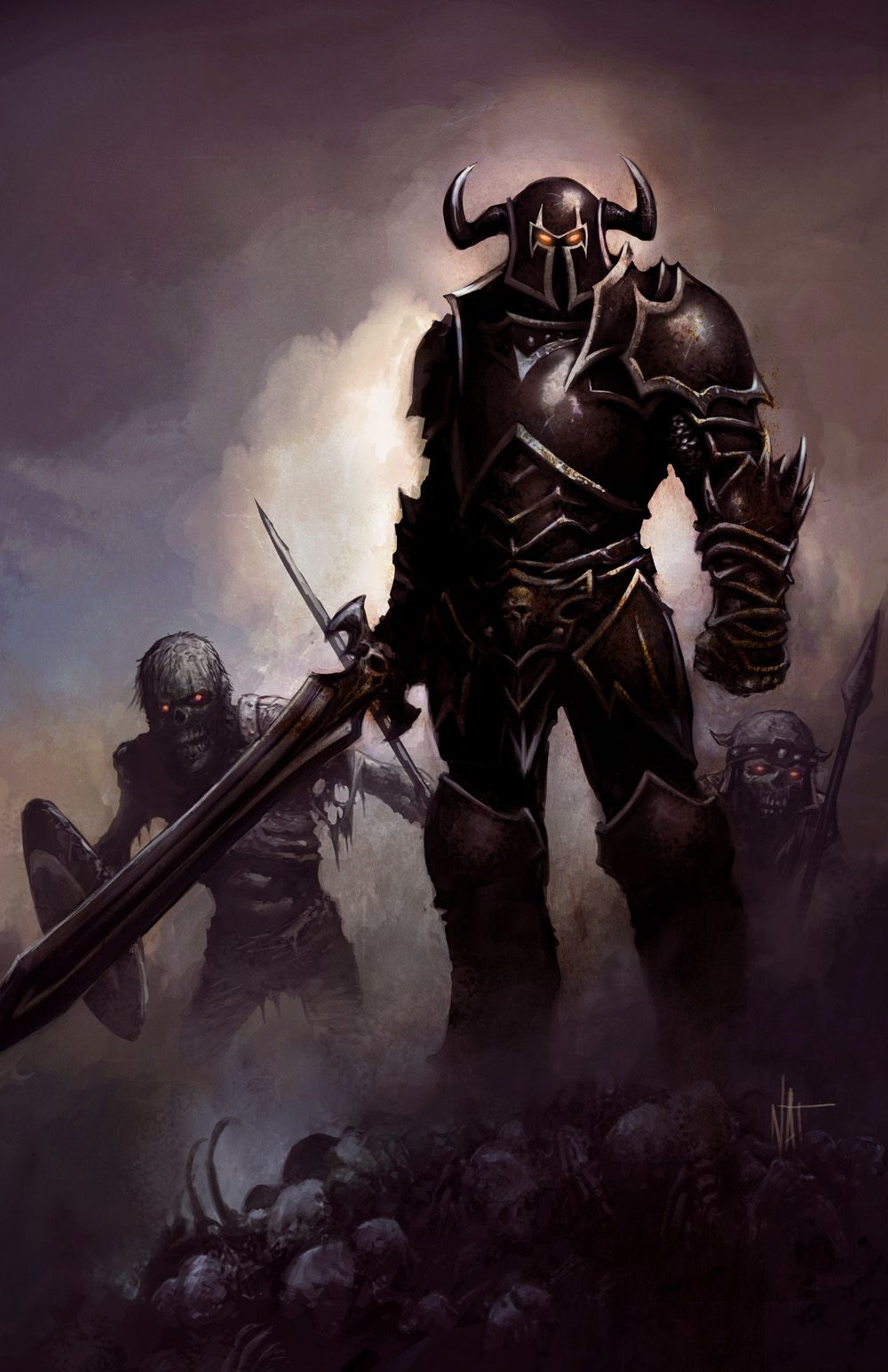 Pin By Blair Martin On Fantasy Art Dungeons And Dragons Characters Evil Knight Dnd Art