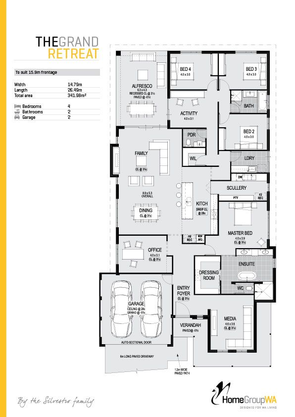 The Grand Retreat Available Only At Home Group Wa To End Up In Your Perfect Home The Best Place To Sta Floor Plan Design Dream House Plans House Blueprints