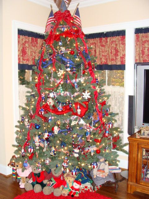 red white and blue Christmas Pinterest Christmas tree and Xmas