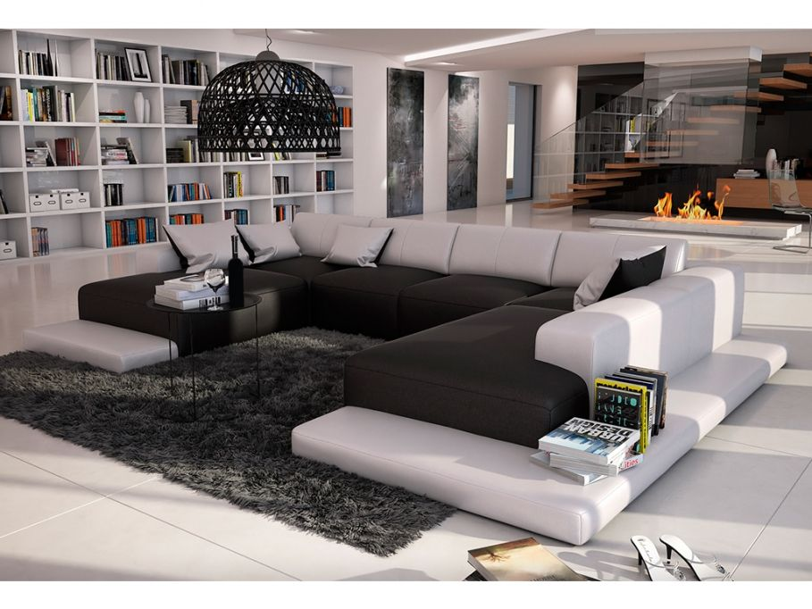 canap panoramique 7 places en simili scosy canap vente unique vente unique. Black Bedroom Furniture Sets. Home Design Ideas