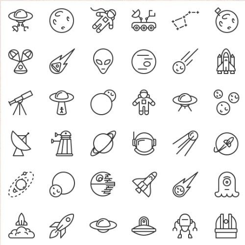 Pack Dicônes Gratuit Freebies Ressource Icons Sketch Doodle