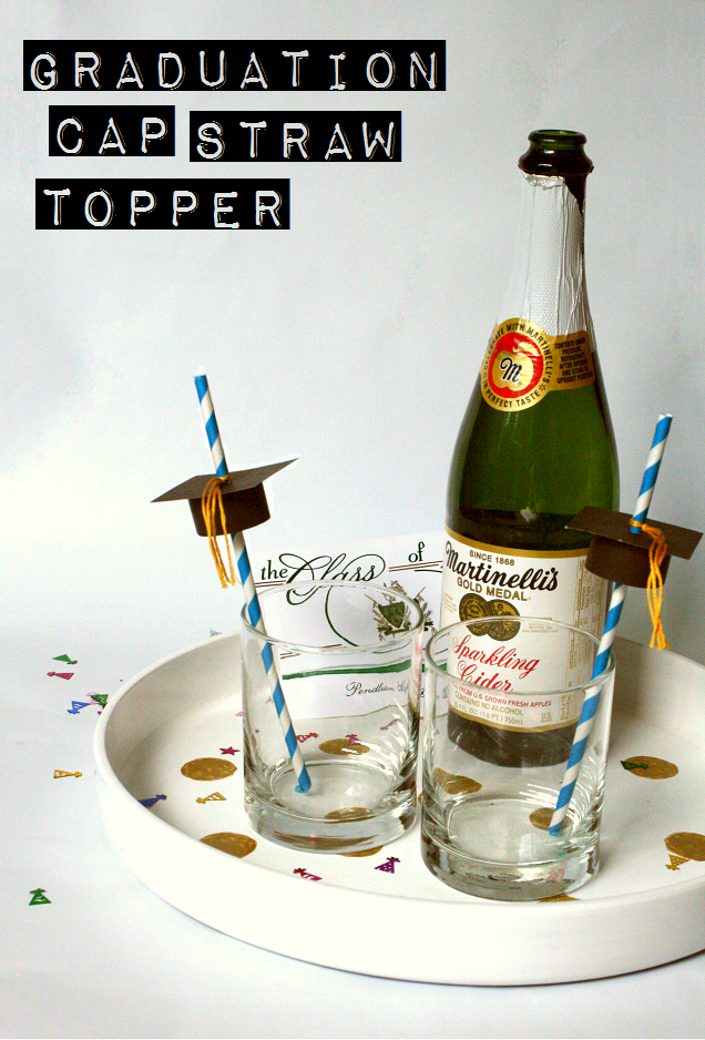 DIY Graduation Cap Straw Toppers  The Glitter in My Tea DIY Graduation Cap Straw Toppers I wanted to make something special for Logans graduation celebrations but there a...