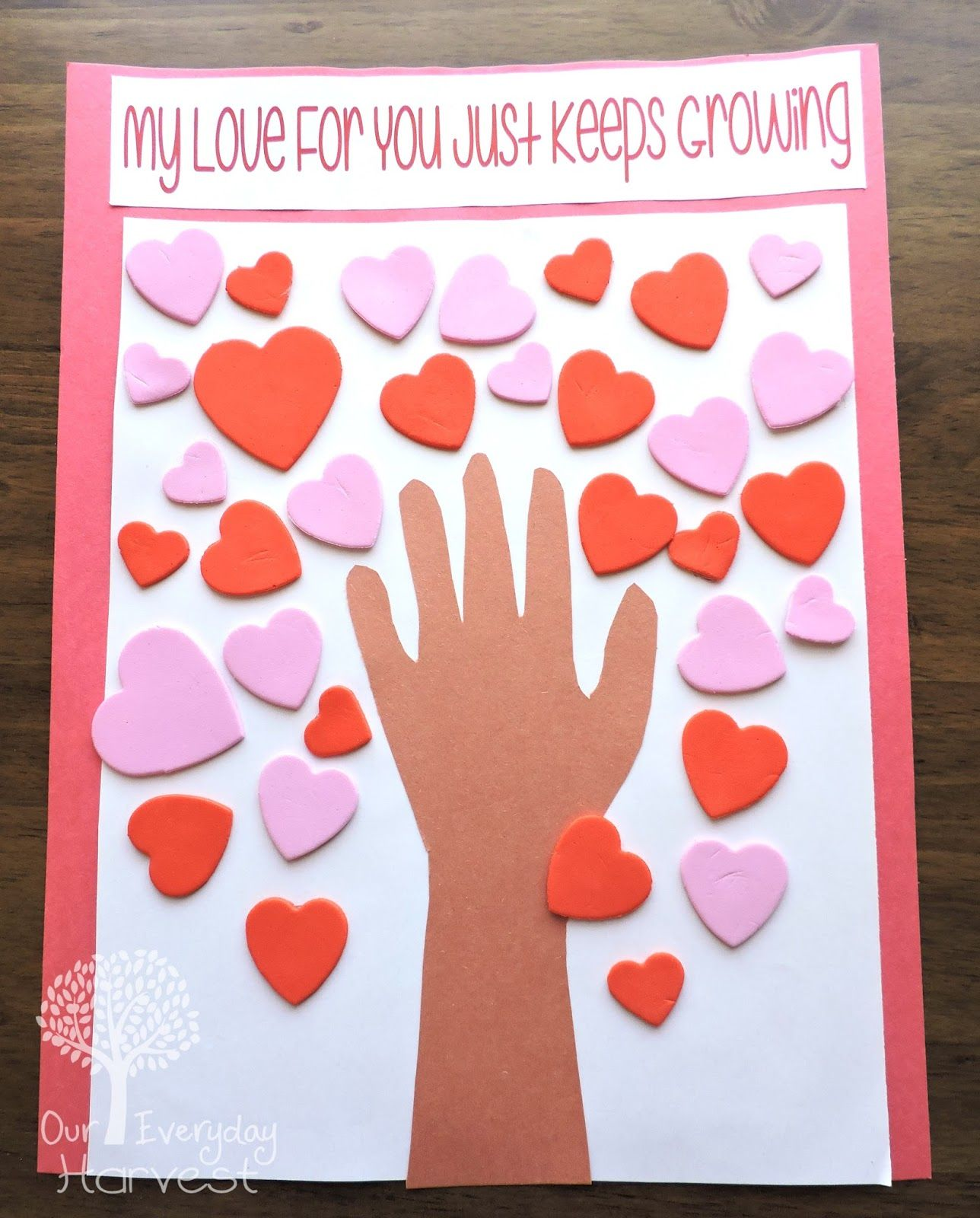 Valentine S Day Heart Tree Preschool Craft Crafts