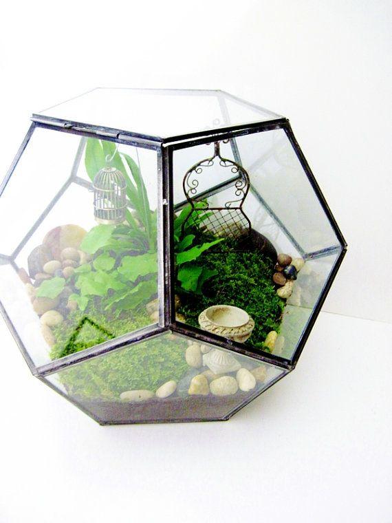 Geometric Terrarium Garden