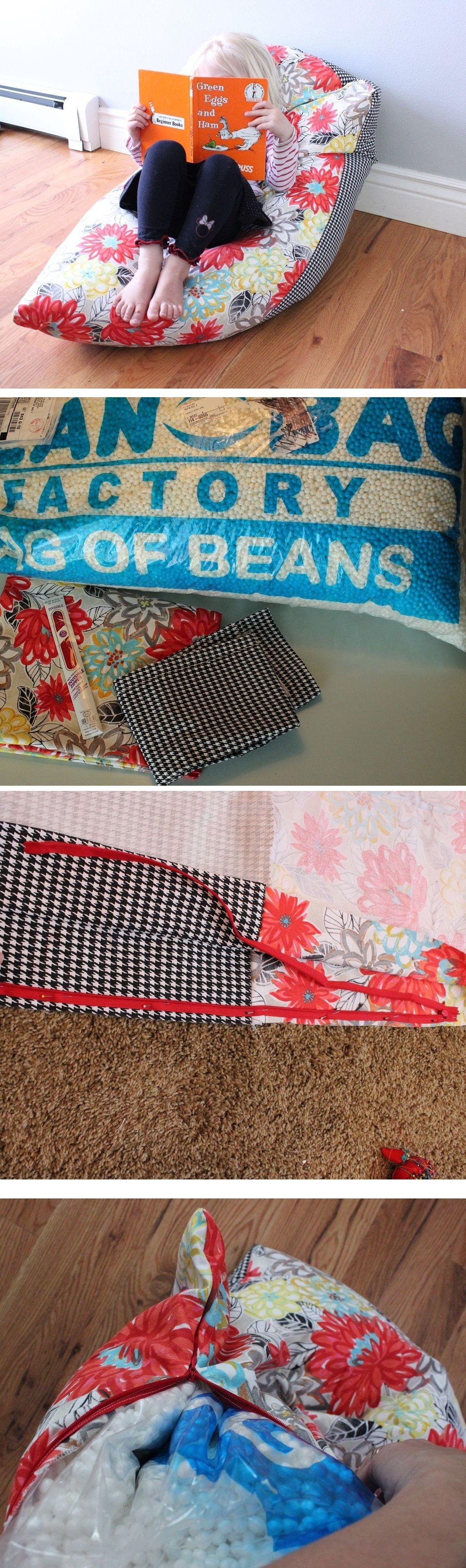 Super Simple DIY Kids Bean Bag Chair: A Step-by-Step ...