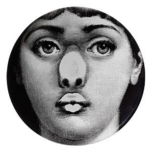 moss Themes and Variations  wall plate No. 254 MOSS EXCLUSIVE by Piero Fornasetti
