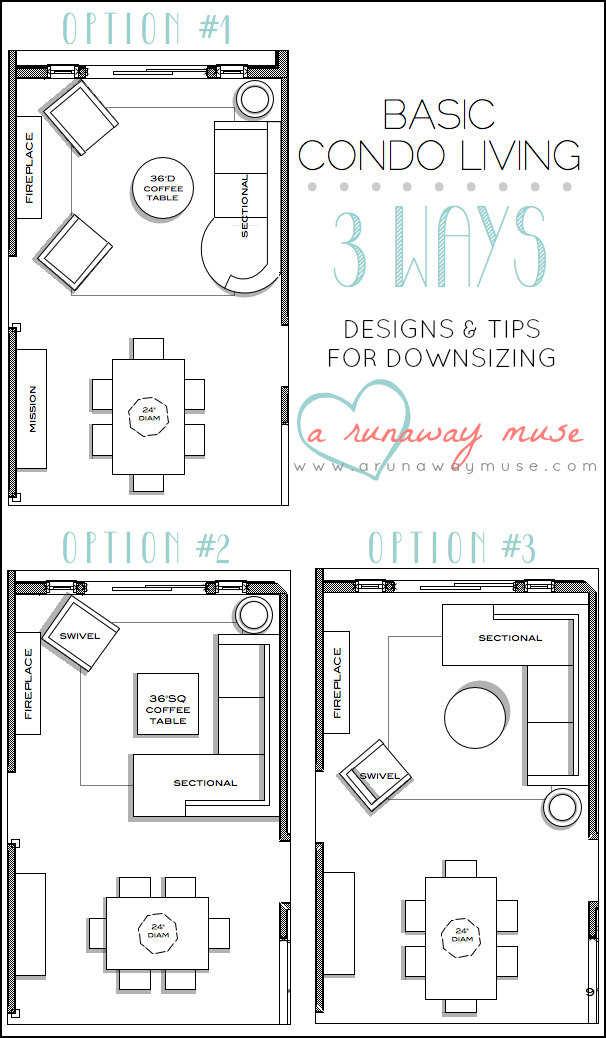 Design Living Room Layout Unique A Runaway Muse Designs & Tips For Downsizing To Condo Living Inspiration
