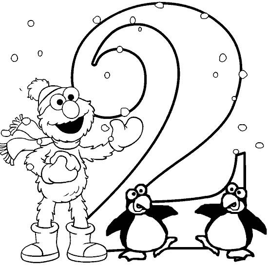 Elmo Winter Coloring Pages Designs Trend
