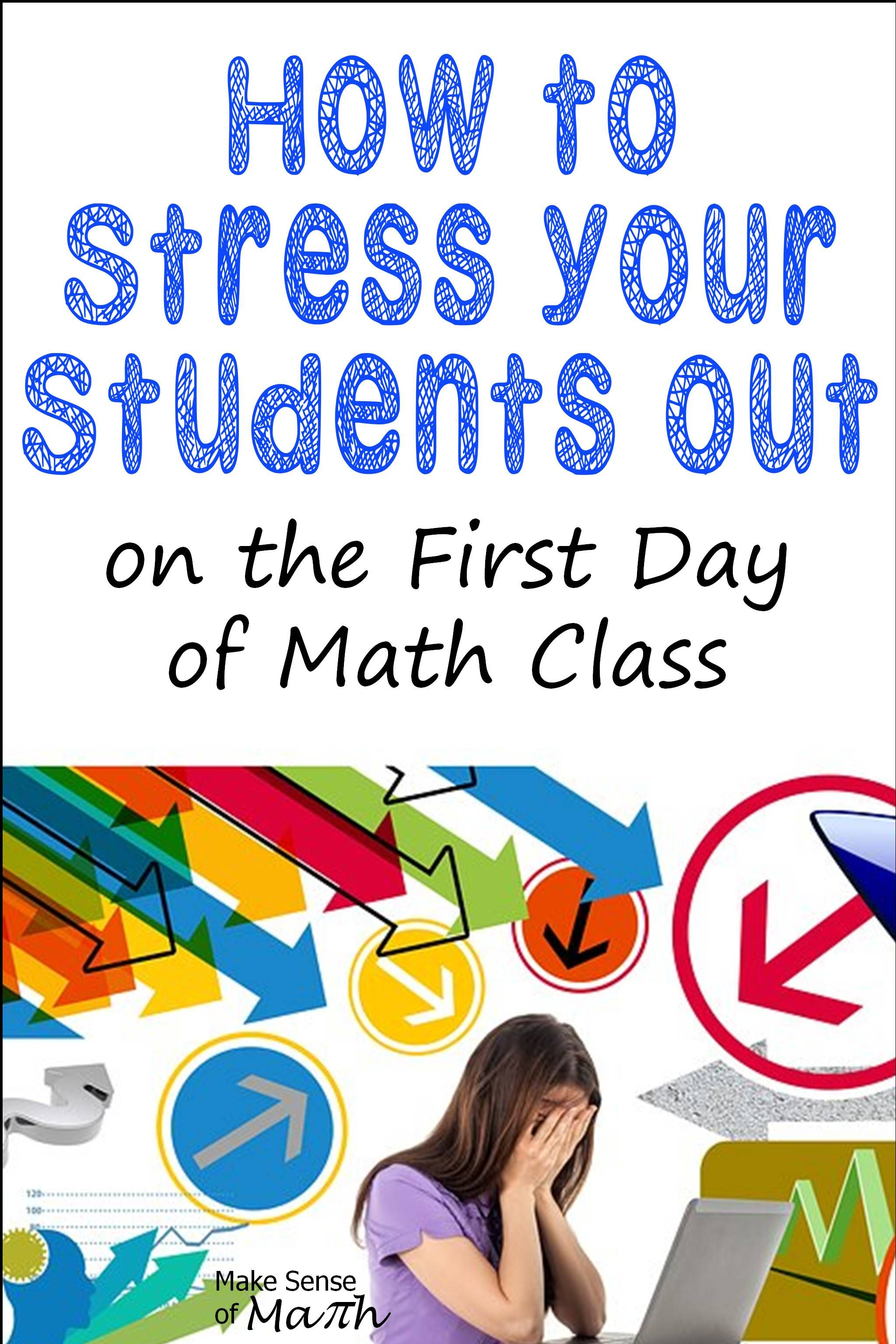 Great Ideas For A Successful First Day Of Math Class
