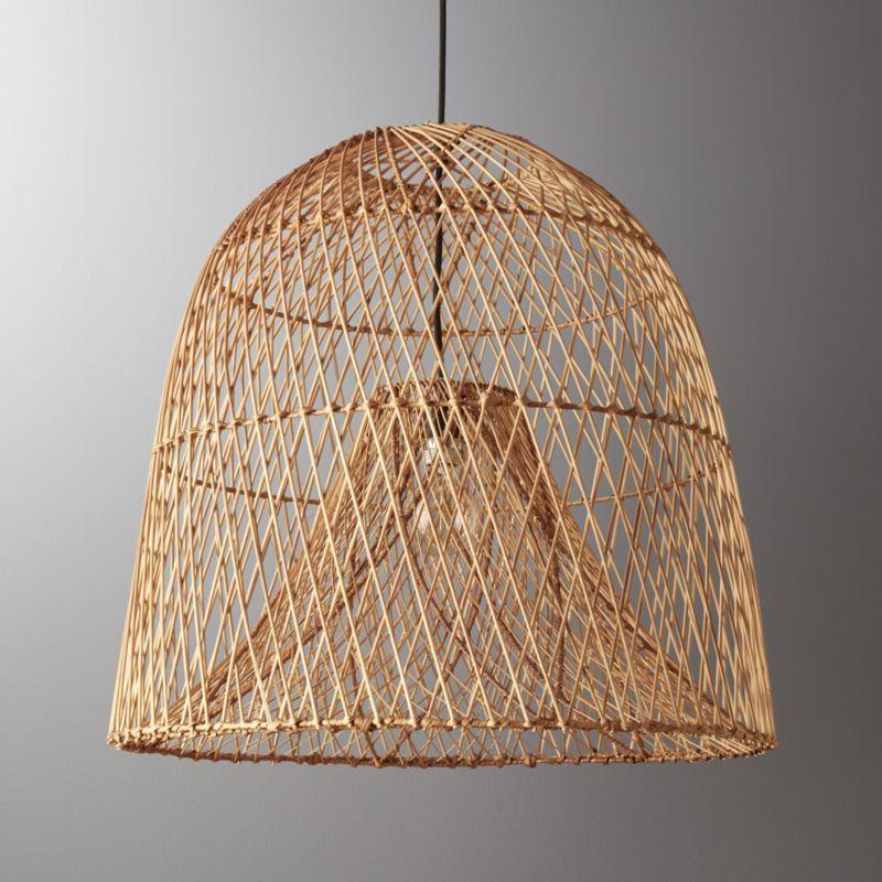 Nassa Basket Pendant Light | Rattan light fixture, Pendant