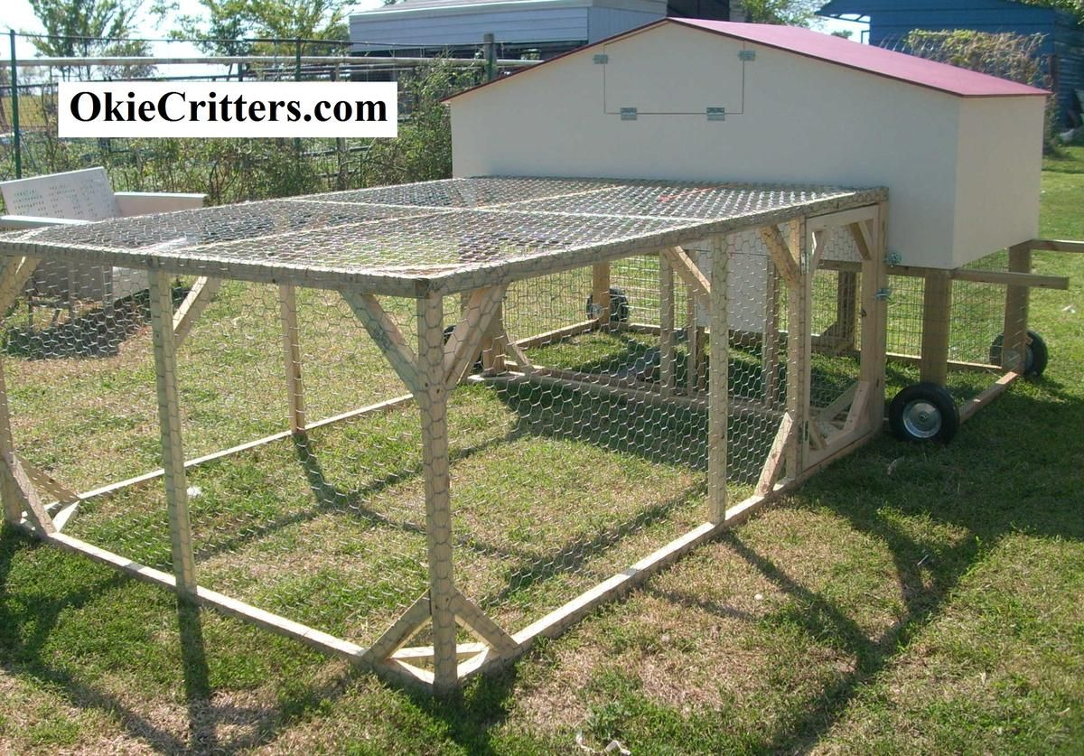 Movable chicken coop plans portable chicken coops on for How to build a movable chicken coop