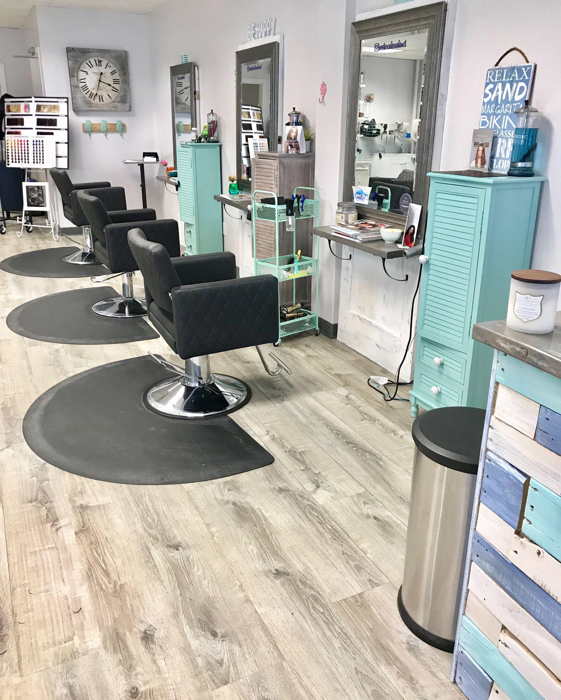 Coastal Ct Goldwell Hair Salon Antique Doors Pallet Desk Salon