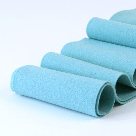 Wool Felt Roll 100 Wool Aquatic Blue New Color By Thefeltpod Felt Sheets Wool Felt Needle Felting Projects