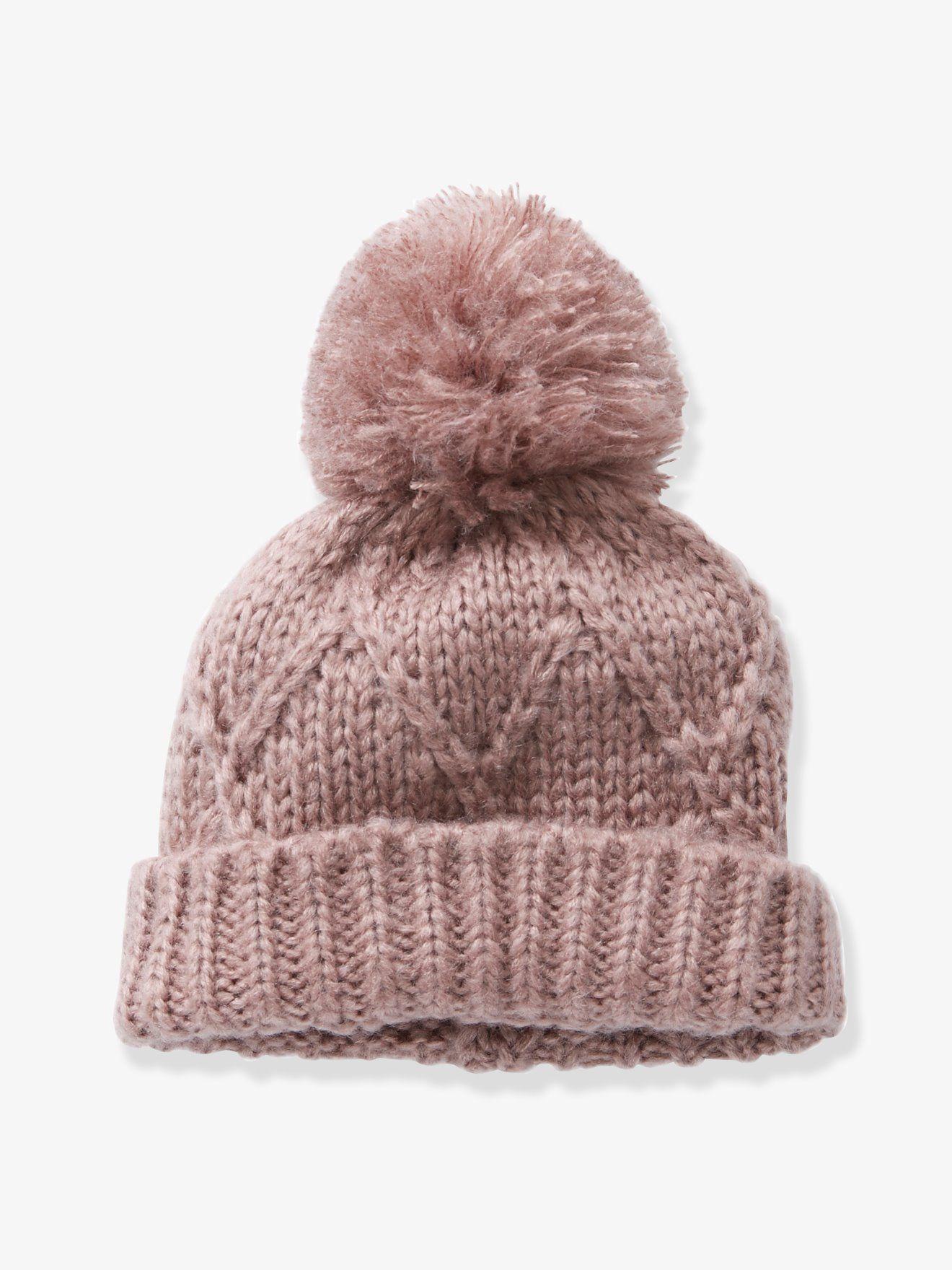 Bonnet + écharpe torsades fille rose blush - Torsades travaillées, coloris  poudré et maille douce... ce duo stylé va vous faire aimer l hiver. 31425b5982d