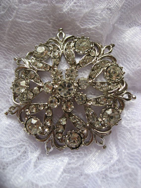 Old victorian wedding bridal rhinestone crystals by weddingvalle, $10.99
