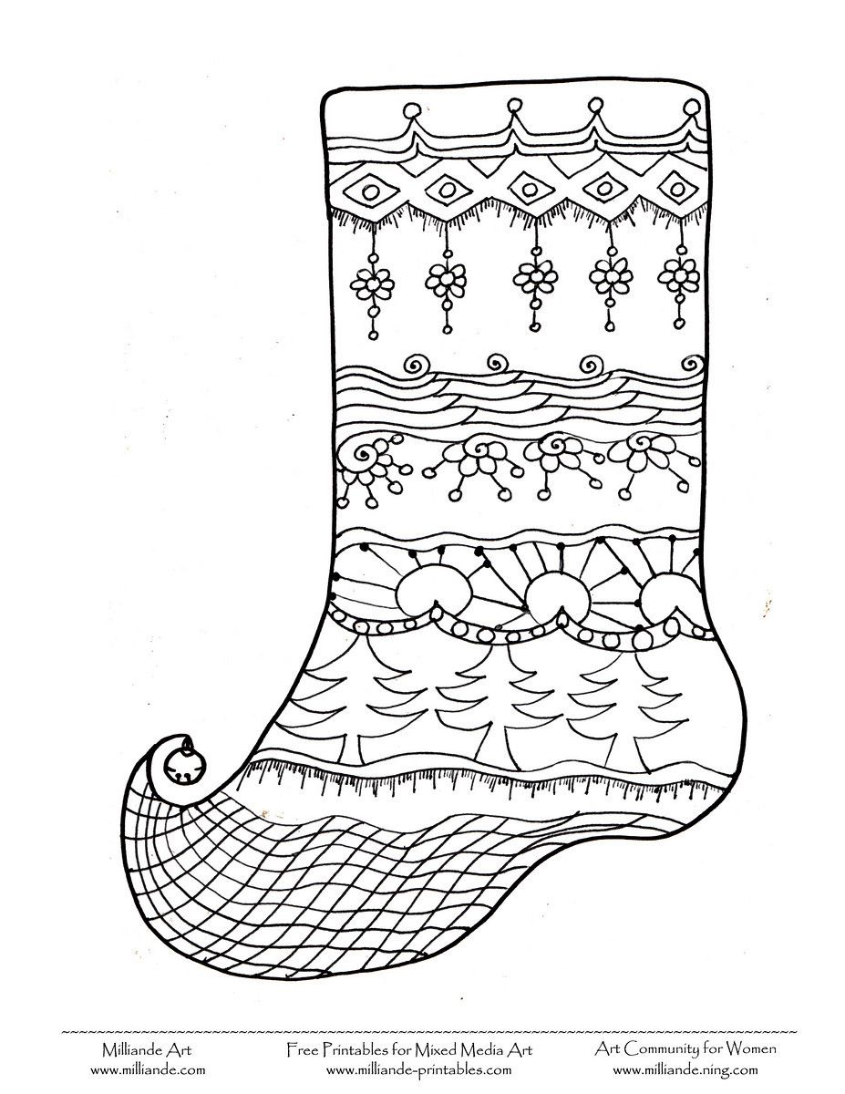 Free Christmas Coloring Page Stocking#Repin By:Pinterest++ for iPad ...
