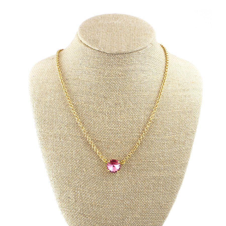 October Birthstone Necklace (Gold)