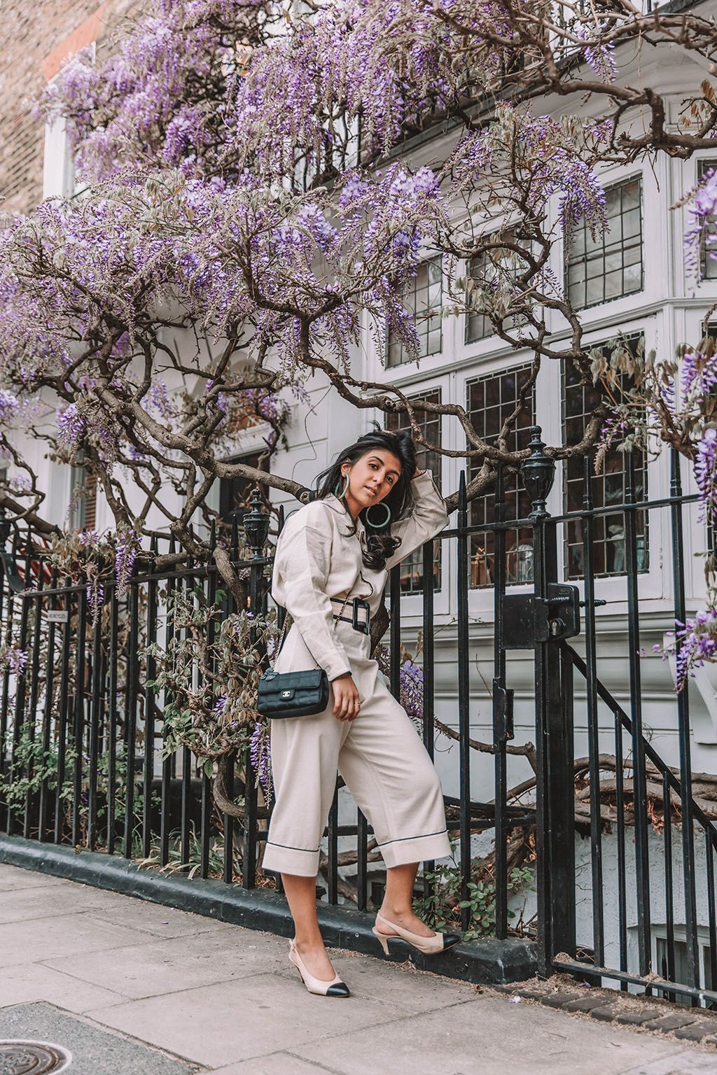 8bb98298b Fashion blogger Shloka Narang of The Silk Sneaker shares a new summer outfit  styling a co-ord linen set to create the perfect outfit featuring Chanel  and ...