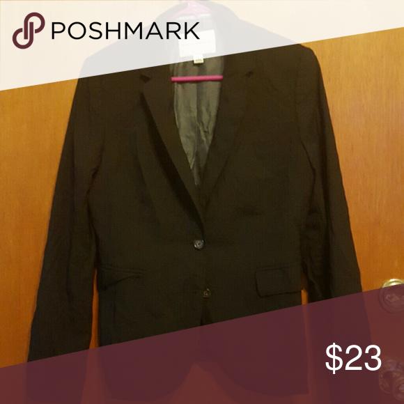 Banana republic black blazer coat Silk lined with pockets Banana Republic Jackets & Coats Blazers