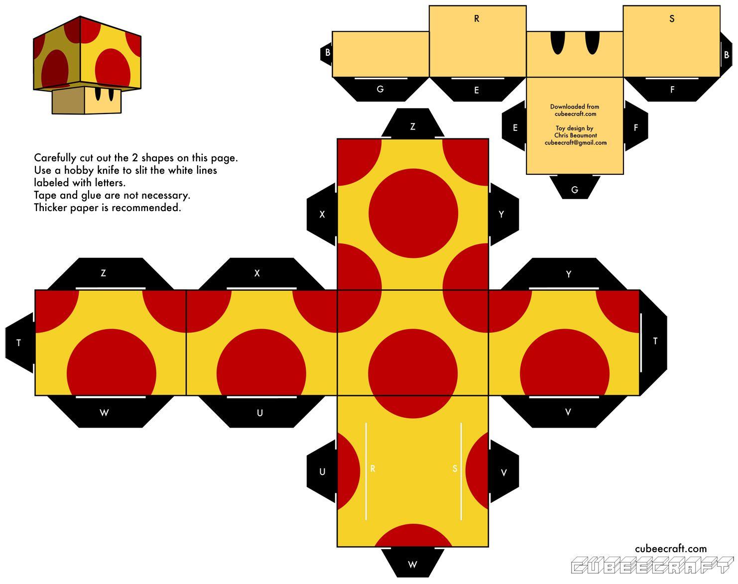 Papercraft: Mario/Angry Birds/Matt Groening[Para Imprimir] | De ...