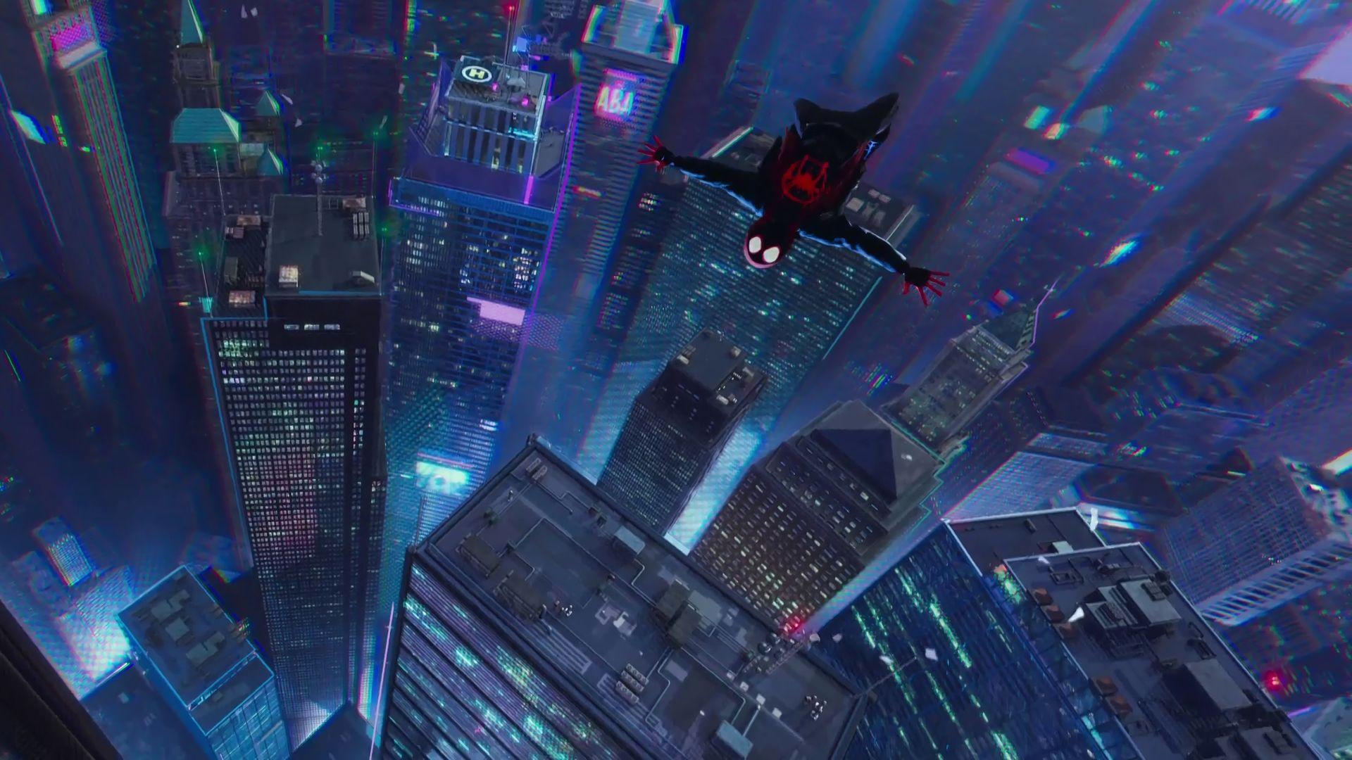 1920x1080 Hd Wallpaper Of Spider Man Into The Spider Verse Movie