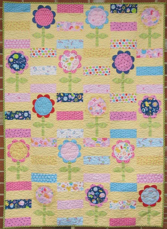 Flower Patch Quilt Pattern by braidcraft on Etsy