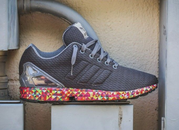 The adidas ZX Flux Prism Sole is the latest adidas ZX Flux to release that  is highlighted with its Prism printed midsole.