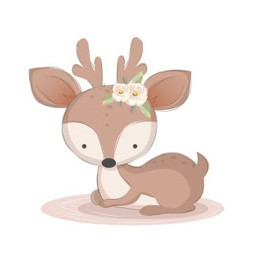 Animals Png Images Vector And Psd Files Free Download On Pngtree Deer Illustration Baby Deer Illustration