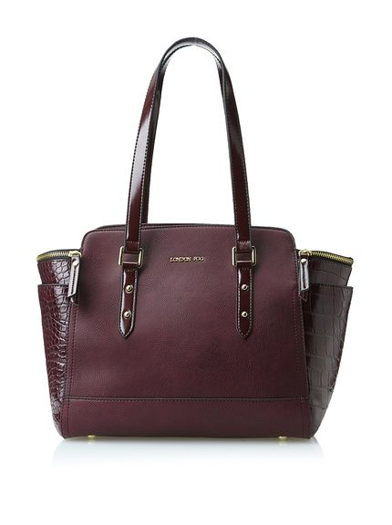 London Fog Women's Parson Tote, Bordeaux, 69.00