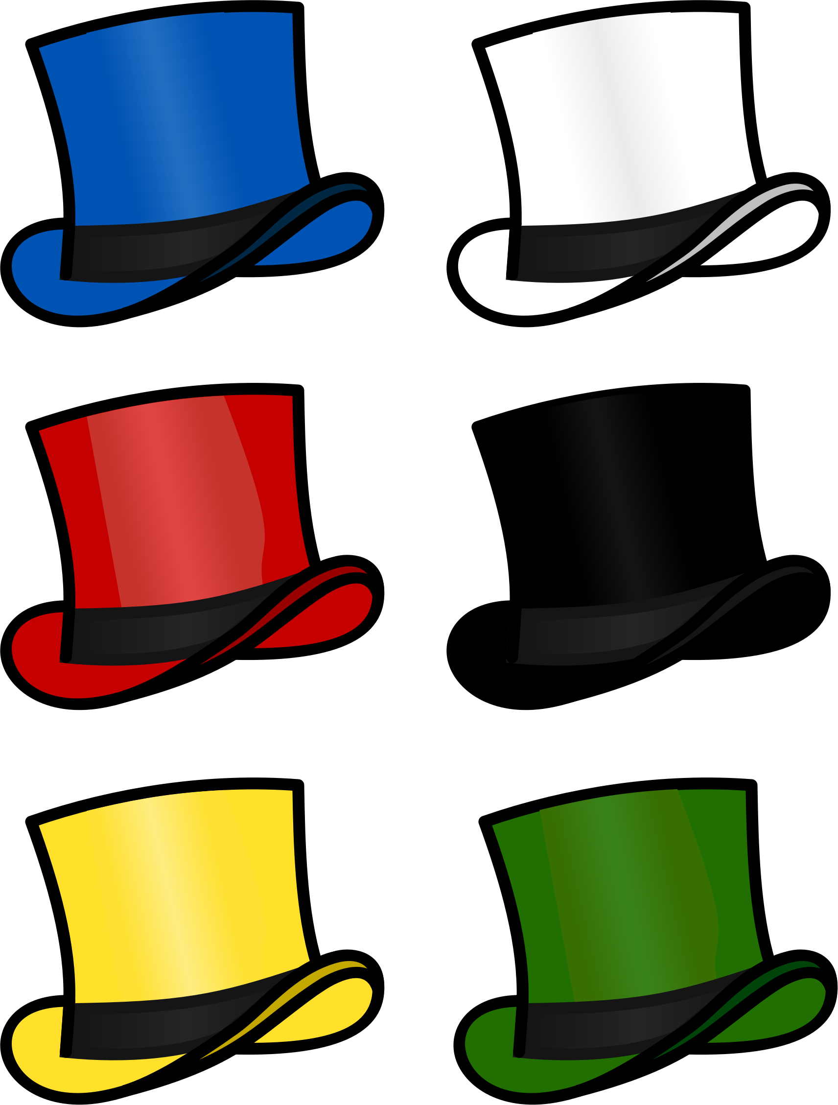 Six Thinking Hats By Cschreuders 6 Thinking Hats Based On Edward De Bono Variation On Top Hat By Bonzo Htt Six Thinking Hats Hats Visible Thinking Routines